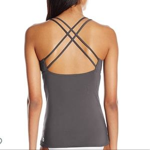TYR Grey Strappy Tankini Top